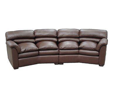 Omnia Leather Canyon Leather Conversation Sofa Seat Cushion Fill Standard Cushion Fill Body Fabric Liberty Cashew Curved Sofa Conversation Sofa Sofa Seat Cushions