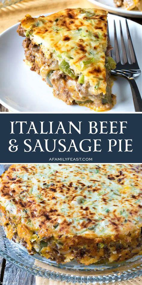 Italian Beef, Sweet Italian Sausage, Italian Recipes, Italian Meat Pie Recipe, Ground Beef Recipes, Pork Recipes, Cooking Recipes, Ground Italian Sausage Recipes, Recipies