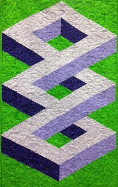 Simplified 3D Patterns | Quilt patterns | 3d quilts, Quilt patterns