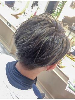 メンズ ホワイトメッシュ 清水大輝 ヘアスタイル 髪型