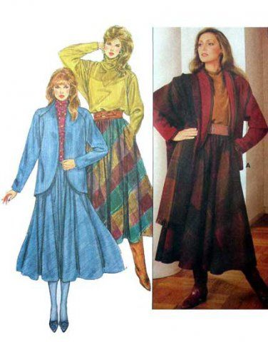 McCall/'s 8459  Misses/' Lined Jacket Pants and Skirt   Sewing Pattern