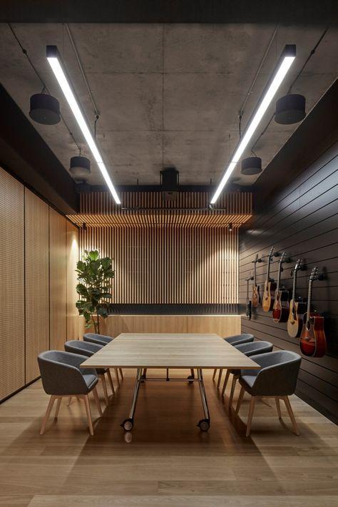 Office Tour: Headquarters of Yamaha Music Australia – Melbourne - office design Modern Office Decor, Office Interior Design, Office Interiors, Office Designs, Office Ideas, Modern Office Spaces, Modern Offices, Retro Office, Office Space Design