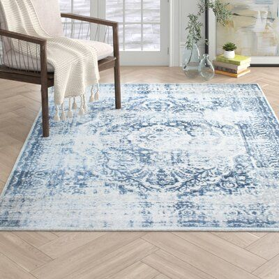 Nicole Miller Kenmare Blue Area Rug Rug Size Rectangle 7 9 X 10 2 Area Rugs Blue Area Rugs Blue Area