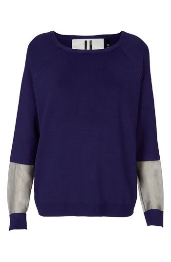 Available Sweater Topshop Unique At Panel nordstrom Sheer waafF4
