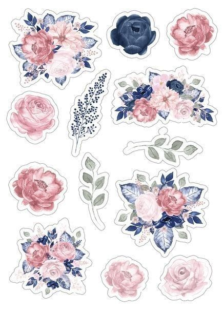 Pin By Caroline Howard On Journal Floral Stickers Journal