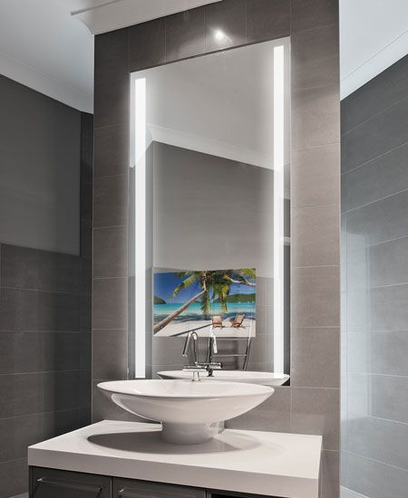 Bathroom Mirror Lights, Bathroom Vanity Mirror With Built In Tv