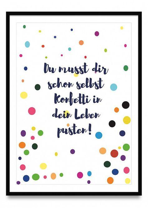 Kunst Poster mit Sprüchen online kaufen | Ulrike Wathling