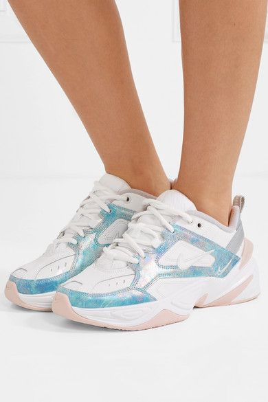 Nike M2K Tekno leather, mesh and satin sneakers in 2019
