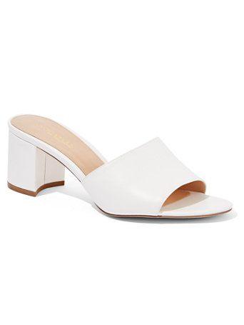 White Block-Heel Sandal - Eva Mendes