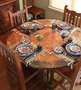 La Fuente Southwest Furniture Copper Collection Copper