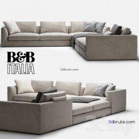 B B Richard Sofa 230 3dmodel 3dbrute With Images Sofa B B Italia Couch Furniture
