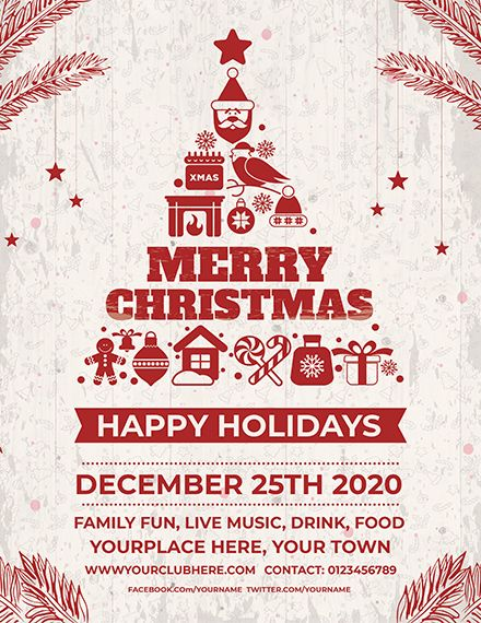 Get The Free Retro Christmas Flyer For Free And See For Yourself How Won Christmas Invitations Template Christmas Flyer Template Free Christmas Flyer Templates