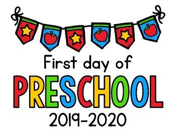 2019 2020 First Day Of School Signs Freebie By Cindy Gilchrist Teachers Pay Teachers School Signs Kindergarten First Day Preschool First Day