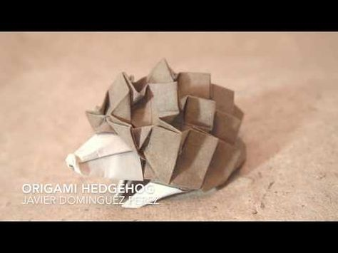 Origami hedgehog by Javier Dominguez Perez - YouTube