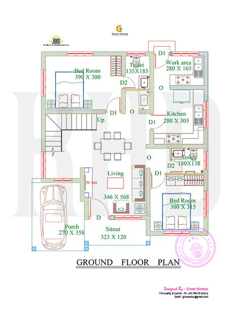 4bhk Floor Plan And Elevation In 5 Cent In 2020 Architectural House Plans Indian House Plans Home Design Floor Plans