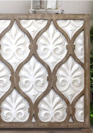 Wood And Distressed White Metal Wall Art Metal Wall Art Wood Wall Art Diy Wall Art
