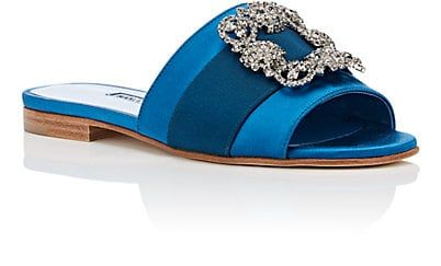 33aa1365826c6 Manolo Blahnik Martamod Satin Slide Sandals | Barneys New York | get ...