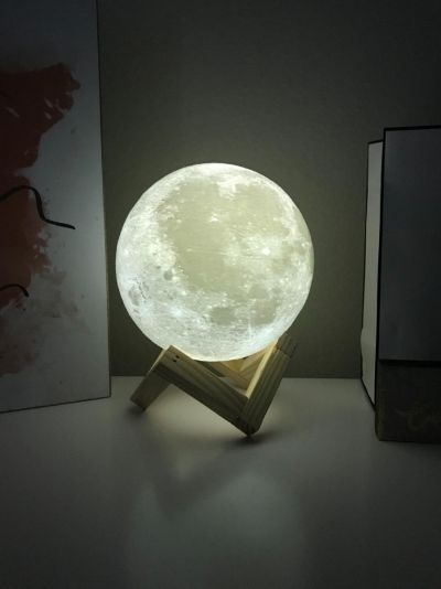 Decbest 15cm 3d Magical Two Tone Moon Lamp Usb Charging Led Night Light Touch Sensor Velantine Giftis Diversiform Newchic Mobile Led Night Light Night Light Lamp Night Light