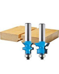 Rockler Flooring Nail Slot Router Bit Set 15 16 Dia X 3 4 H X 1 2 Shank Router Bits Router Bit Set Wood Router