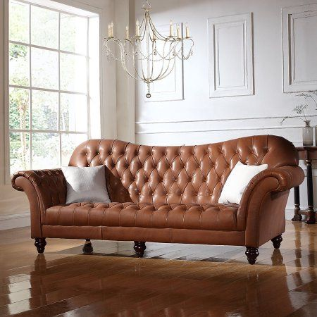 Classic Victorian Italian Leather Sofa Leathersectionalsofas