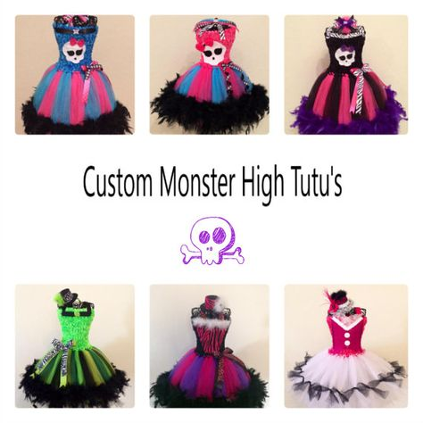 Custom Monster High Tutu. Pick from any of by Ericascustomtutus