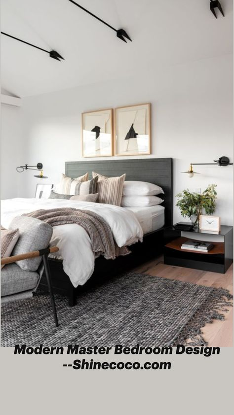 Modern Master Bedroom Design --Shinecoco.com