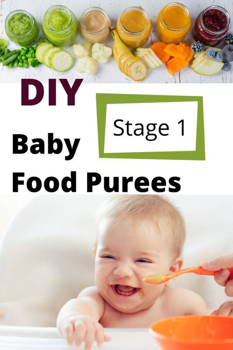 Clear and simple instructions for how to make your own stage one baby food purees. From sweet potatoes to avocados and many foods in between your little one will love these first baby foods. Baby Food Guide, Baby Food Recipes Stage 1, Baby Food Schedule, Avocado Baby Food, Healthy Baby Food, Avocado Puree Baby, Food Baby, Sweet Potato Baby Food, Banana Baby Food