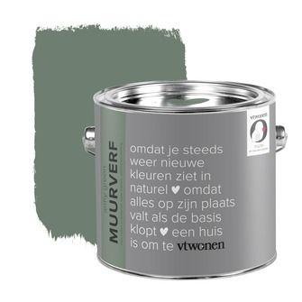 vtwonen krijt mat muurverf army green 2, alles voor je klus om je huis & tuin te verfraaien vind je bij KARWEI