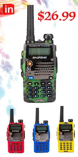 Baofeng UV-5R Handheld FM Dual Band Two way Walkie Radio+USB Programming Cable