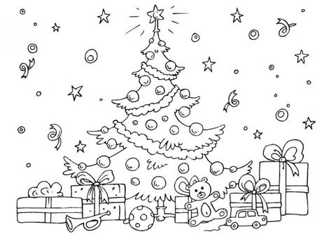 december coloring pages  christmas tree coloring page
