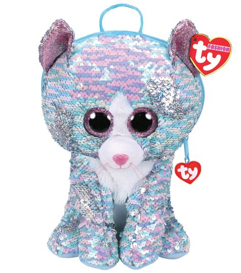 Beanie Boos Sequin Backpack - Whimsy the Blue Cat