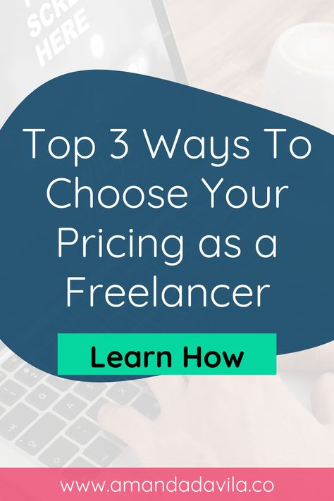 Learn the Top 3 Ways To Choose Your Pricing as a Freelancer (Without Feeling Like a Fraud!) #virtualassistant #socialmediamanager #freelancer #obm #graphicdesigner