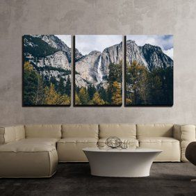 Wall26 3 Piece Canvas Wall Art Mountain Landscape With Lake Modern Home Decor Stretched And Framed Ready To Hang 16 X24 X3 Panels Walmart Com In 2021 Big Wall
