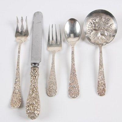 Reed and Barton SAVANNAH pierced serving spoon