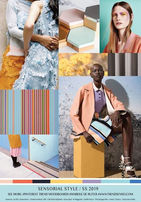 MOODBOARD - SENSORIAL STYLE - SPRING SUMMER 2019  #moodboard #sensorial #spring #style #summer