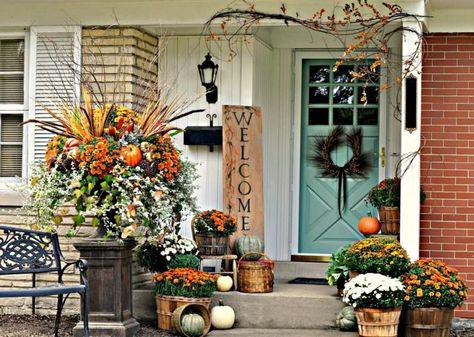 Herbstdeko Ideen.Herbst Deko Für Draußen 30 Ideen Für Schönen Hauseingang
