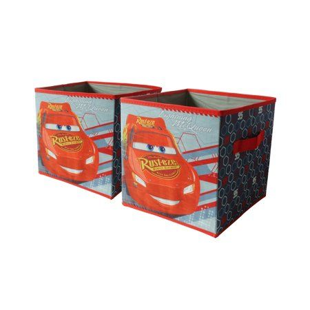 Disney Cars 2 Pack Collapsible Storage Cube 10 X 10 Collapsible Storage Cubes Cube Storage Storage