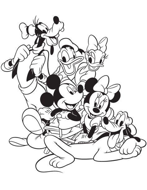 colorir, 38 Desenhos de A casa do Mickey para colorir, Colorir - copy mickey mouse safari coloring pages