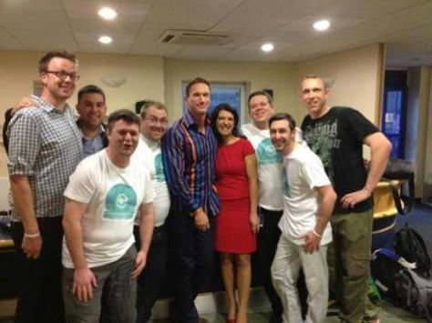 Lads from the Mark Gorry Foundation with Dr Christian Jessen and Dr Dawn Harper from Channel 4's Embarrassing Bodies programme