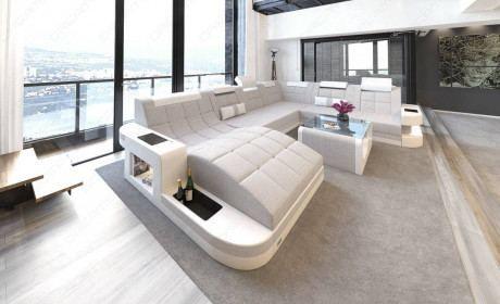 Fabric Sofa Jacksonville Xl Shape Led In 2020 Sectional Sofa Leather Sectional Sofas Fabric Sectional Sofas