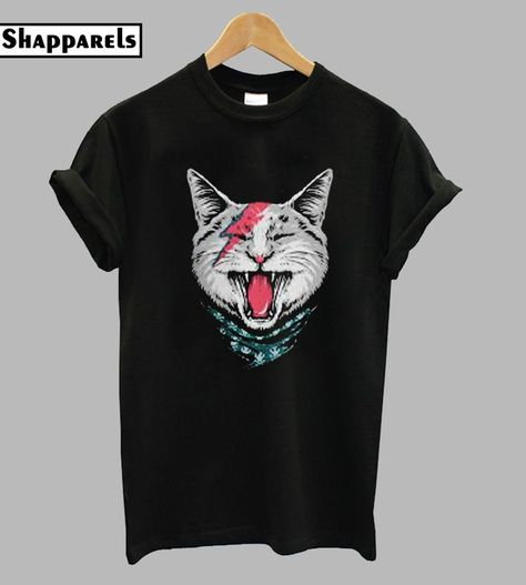 Mens T-shirt Print Karate Cat DTG Fancy cool TShirt Tees high quality graphic