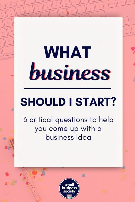 What business should I start? 3 key questions to come up with your business ideas. Click for the quiz that will help you organize your thoughts and choose what products will you sell or services will you offer. Entrepreneur tips on how to find what kind of small business to open. Find out if you should open a virtual, online or local store or shop. #startabusiness #businesstips #businessideas #startups #smallbusiness