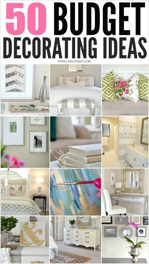 50 Budget Decorating Tips Everyone Should Know!
