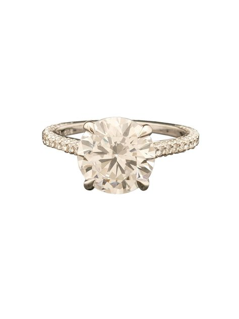 Michael B. Handmade Platinum Princess Collection Engagement Ring at London Jewelers!