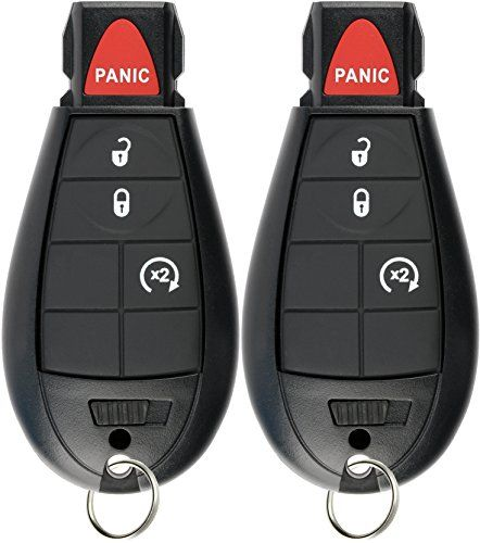 Keylessoption Keyless Entry Remote Car Key Fob Alarm For Jeep Cherokee Dodge Ram Gq4 53t Pack Of 2 Grand Caravan New Car Key Replacement Car