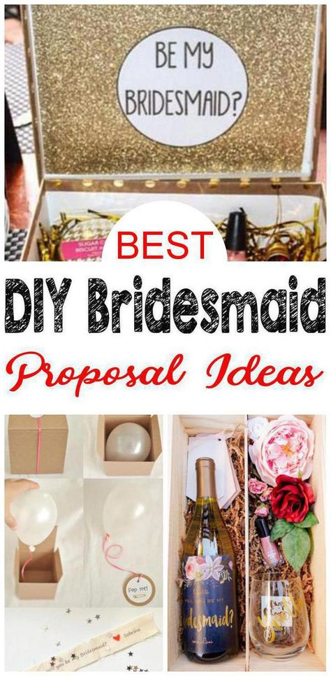 DIY Bridesmaid Proposal! Find the best bridesmaid proposal ideas! From DIY ideas to box ideas to card ideas to kits to affordable to cheap to inexpensive you can find creative, unique, simple, easy and fun bridesmaid proposals. Great gifts for your feature bridal party - can be used as maid of honor proposals, junior bridesmaids and flower girl proposals too. Give at your engagement party or get together with your bride tribe. Get the best DIY Bridesmaid Proposal ideas now!