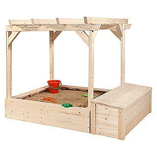 Weka Pergola Tabaluga 125 X 120 X 125 Cm Fichte Unbehandelt Integrierter Sandkasten Sandkasten Garten Kinder Spielhaus Garten Garten Spielplatz