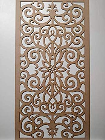 Laserkris Radiator Cabinet Wall Decorative Screening Grille Perforated Mdf Panel 4x2 G1 Am Carved Wooden Panels Wooden Wall Panels Decorative Screen Panels