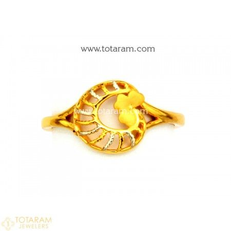 22k Gold Ring For Women 235 Gr5407 Buy This Latest Indian Gold Jewelry Design In 2 Indian Gold Jewellery Design Indian Wedding Rings Diamond Jewelry Gifts