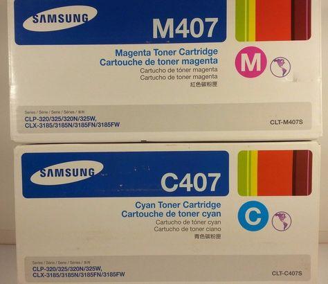 Samsung C407 CLT-C407S Cyan Toner Cartridge CLP-320 Genuine New